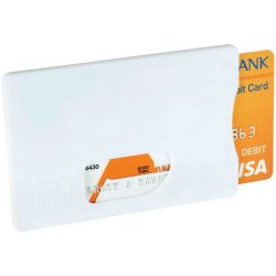 Zafe RFID credit card protector, Plastic, White