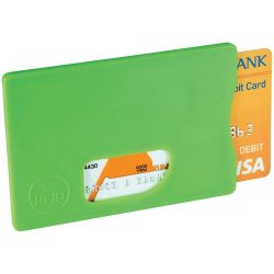Zafe RFID credit card protector, Plastic, Lime
