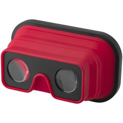 Sil-val fodable silicone virtual reality glasses, ABS Plastic and Silicone, Red