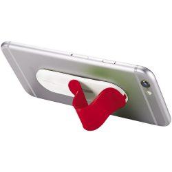 Suport telefon tip inel, Everestus, STT110, abs, plastic, rosu, laveta inclusa