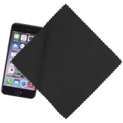 Cleens microfibre screen cleaning cloth, Microfiber, solid black