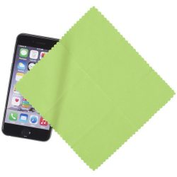 Cleens microfibre screen cleaning cloth, Microfiber, Lime