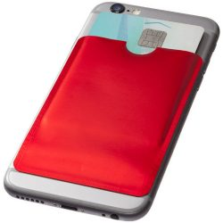 Exeter RFID smartphone card wallet, Aluminium foil, Red