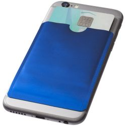 Exeter RFID smartphone card wallet, Aluminium foil, Royal blue