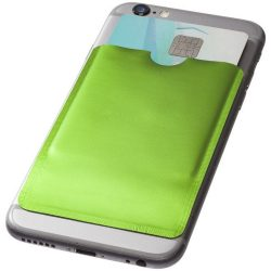 Exeter RFID smartphone card wallet, Aluminium foil, Lime
