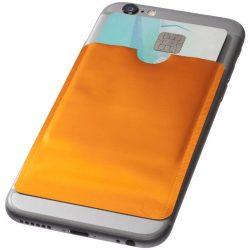 Exeter RFID smartphone card wallet, Aluminium foil, Orange