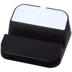 Hopper 3-in-1 USB hub and phone stand, ABS Plastic, solid black