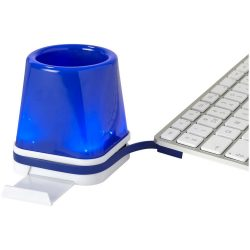 Shine 4-in-1 USB desk hub, ABS Plastic, Royal blue
