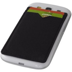 Eye dual pocket RFID smartphone wallet, Polyester, solid black
