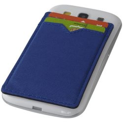 Eye dual pocket RFID smartphone wallet, Polyester, Royal blue