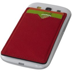 Eye dual pocket RFID smartphone wallet, Polyester, Red