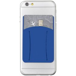 Storee silicone smartphone wallet with finger slot, Silicone, Royal blue