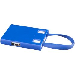 Revere 3-port USB hub with 3-in-1 cable, Plastic, Royal blue