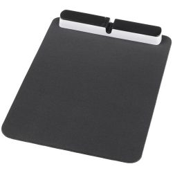 Cache mouse pad with USB hub, PU foam, solid black