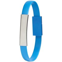 Bracelet 2-in-1 charging cable, Silicon, Light blue