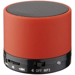 Rubber cylinder speaker, ABS Plastic, Red