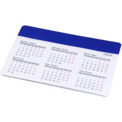 Chart mouse pad with calendar, PP plastic, Royal blue