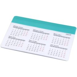 Chart mouse pad with calendar, PP plastic, mint