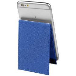 Suport telefon cu portcard RFID inclus, Everestus, STT141, poliester 300D, albastru, laveta inclusa