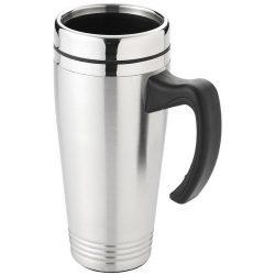 Pasadena 500 ml insulated mug, Stainless steel exterior, plastic interior, Silver