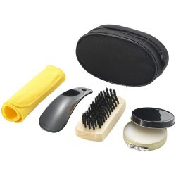 Hammond shoe polish kit, 70D Polyester pouch, solid black