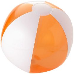 Bondi inflatable beach ball, PVC, Transparent orange,White