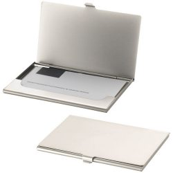 Singapore business card holder, Metal, Silver