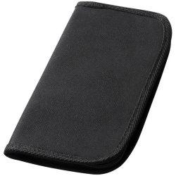 Portofel de calatorie cu loc de pasaport, Everestus, BO01, poliester 600D, negru, 140x260x20 mm
