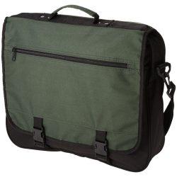 Geanta de conferinte, buzunar frontal, curele ajustabile, Everestus, AE, 600D poliester, verde inchis, sac si eticheta incluse