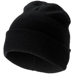 Irwin beanie, Unisex, 1x1 Rib knit of 100% Acrylic, solid black