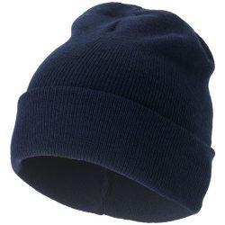 Irwin beanie, Unisex, 1x1 Rib knit of 100% Acrylic, Navy