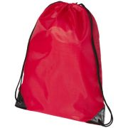 Oriole premium drawstring backpack, 210D Polyester, Red