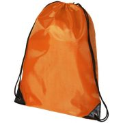 Oriole premium drawstring backpack, 210D Polyester, Orange