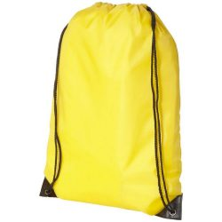 Oriole premium drawstring backpack, 210D Polyester, Yellow