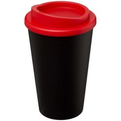 Americano® 350 ml insulated tumbler, PP Plastic, solid black, Red