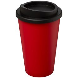 Americano® 350 ml insulated tumbler, PP Plastic, Red, solid black