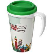 Brite-Americano® grande 350 ml insulated mug, PP Plastic, White, Green