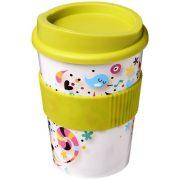 Brite-Americano® medio 300 ml tumbler with grip, PP Plastic, Silicone, Lime