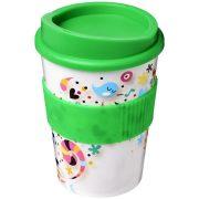 Brite-Americano® medio 300 ml tumbler with grip, PP Plastic, Silicone, Green