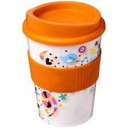 Brite-Americano® medio 300 ml tumbler with grip, PP Plastic, Silicone, Orange