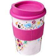 Brite-Americano® medio 300 ml tumbler with grip, PP Plastic, Silicone, Pink