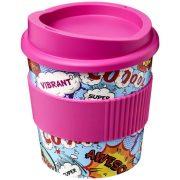 Brite-Americano® primo 250 ml tumbler with grip, PP Plastic, Silicone, Pink