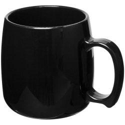Classic 300 ml plastic mug, SAN, solid black