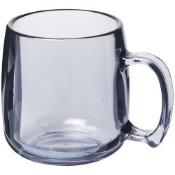 Classic 300 ml plastic mug, SAN, transparent clear