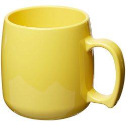 Classic 300 ml plastic mug, SAN, Yellow