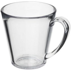 Supreme 350 ml plastic mug, SAN, transparent clear