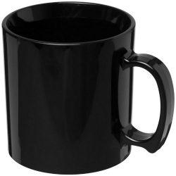 Standard 300 ml plastic mug, SAN, solid black