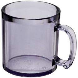 Standard 300 ml plastic mug, SAN, transparent clear