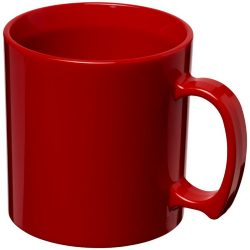 Standard 300 ml plastic mug, SAN, Red