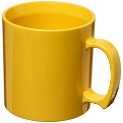 Standard 300 ml plastic mug, SAN, Yellow